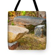 Rock Bench And Table Tote Bag