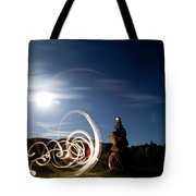 Rock Cairn With Light Painting Next Tote Bag