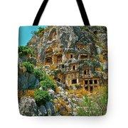 Rock-carved Tombs In Myra-turkey Tote Bag