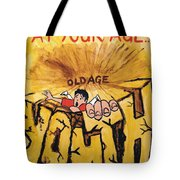 Rock Climbing Cartoon Tote Bag