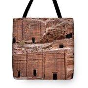 Rock Cut Tombs On The Street Of Facades In Petra Jordan Tote Bag