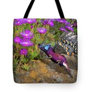 Rock Flower Birguana Fly Tote Bag