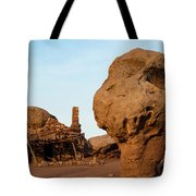 Rock Formations And Abandoned Building Tote Bag