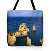 Rock Formations In The Sea, Algarve Tote Bag