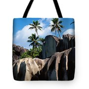 Rock Formations On The Beach, Anse Tote Bag
