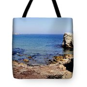 Rock Formations On The Beach, Marcona Tote Bag