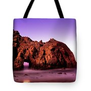 Rock Formations On The Beach, Pfeiffer Tote Bag