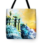 Rock Hewn Monastery Ad-deir Tote Bag by Catf