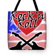 Rock N Roll Stars N Stripes Tote Bag
