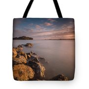 Rock Peninsula In Humboldt Bay Tote Bag