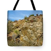 Rock Pile In Black Rock Canyon On Panorama Loop Trail In Joshua Tree National Park-california Tote Bag