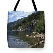Rock Pools On Christina Lake Tote Bag
