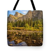 Rock Reflections On The Merced Tote Bag