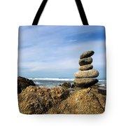 Rock Sculpture At The Beach Tote Bag
