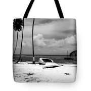 Rock The Boat  Black And White Tote Bag