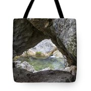Rock Window Tote Bag by David Morefield