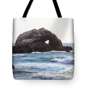 Heart Rock Near San Francisco Ca Cliff House Tote Bag