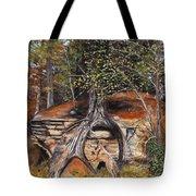 Rock Wolf Den Tote Bag