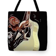 Rockabilly Electric Guitar Player  Tote Bag by Tommytechno Sweden