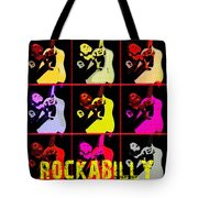 Rockabilly In Comic Style Tote Bag