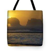Rockaway Beach Oregon Turning The Sky To Gold Tote Bag