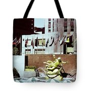 Prometheus Rockefeller Plaza 1950 Tote Bag