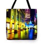 Rockefeller Center Christmas Trees - Holiday And Christmas Card Tote Bag