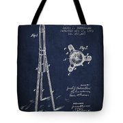 Rocket Patent Drawing From 1883 Tote Bag