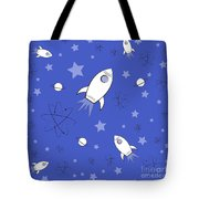 Rocket Science Dark Blue Tote Bag