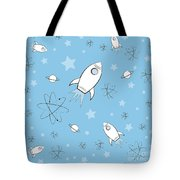 Rocket Science Light Blue Tote Bag