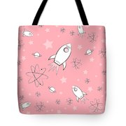 Rocket Science Pink Tote Bag