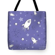Rocket Science Purple Tote Bag