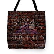 Rockies Baseball Graffiti On Brick  Tote Bag by Movie Poster Prints