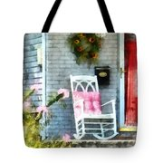 Rocking Chair With Pink Pillow Tote Bag by Susan Savad