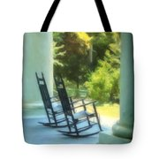 Rocking Chairs And Columns Tote Bag