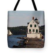 Rockland Breakwater Light 8986 Tote Bag