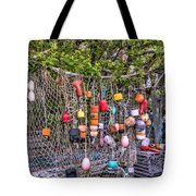 Rockport Fishing Net And Buoys Tote Bag