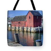 Rockport Fishing Village Tote Bag