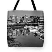 Rockport Harbor - Bw Tote Bag