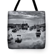 Rockport Harbor View - Bw Tote Bag