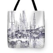 Rockport Sailboats - Photo Shetch Tote Bag