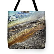 Rocks And Clear Water Abstract Tote Bag by Elena Elisseeva