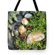Rocks And Lichen Tote Bag