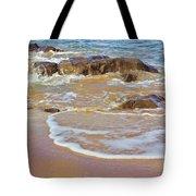 Rocks And Waves Tote Bag