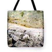 Rocks At Georgian Bay Tote Bag