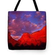 Rocks At Sunset Sedona Az Usa Tote Bag