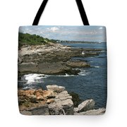Rocks Below Portland Headlight Lighthouse 5 Tote Bag