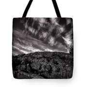 Rocks Clouds Water Tote Bag