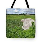 Rocks In A Tall Grass Prairie In Pipestone National Monument-minnesota Tote Bag