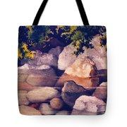 Rocks In Stream Tote Bag